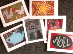 Pastimes PEI Art Cards from out Hooked Pieces