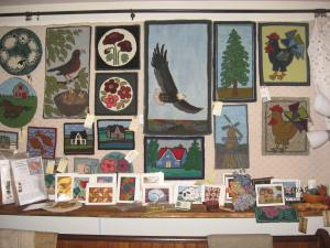 Pastimes PEI hooked art pieces