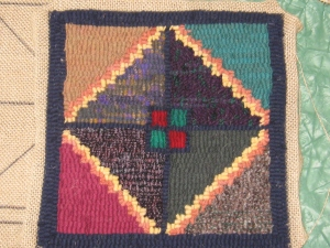A Cavendish Sampler piece hooked at Pastimes PEI